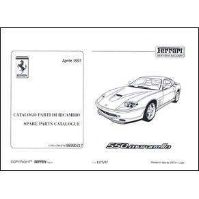catalogue des pi ces de rechange 1997 ferrari 550 maranello 1175 97 pdf it fr uk ferrari. Black Bedroom Furniture Sets. Home Design Ideas