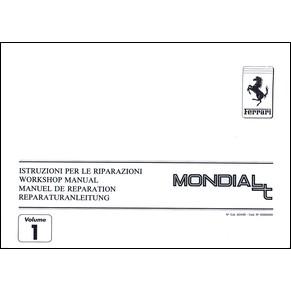 manuel de r paration 1990 ferrari mondial t vol1 624 90 pdf it fr uk de ferrari automobilia. Black Bedroom Furniture Sets. Home Design Ideas