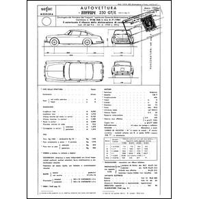 1960 Ferrari 250 GTE homologation certificate (Certificato