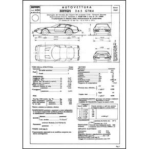 1969 Ferrari 365 GTB/4 homologation certificate