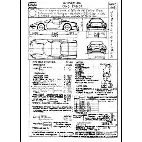 1969 Ferrari Dino 246 GT homologation certificate