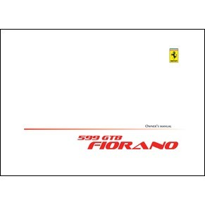 2008 Ferrari 599 GTB Fiorano owners manual 3399/08 PDF (uk