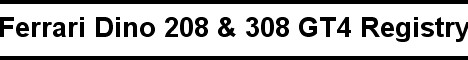 208 & 308 GT4 Registry