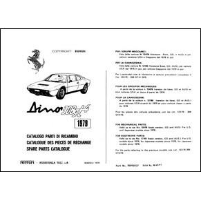 catalogue des pi ces de rechange 1979 ferrari dino 308 gt4 172 79 pdf it fr uk ferrari. Black Bedroom Furniture Sets. Home Design Ideas
