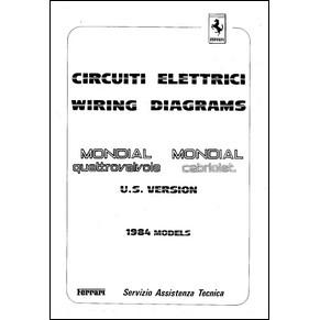 circuits lectriques 1984 ferrari mondial quattrovalvole cabriolet 317 84 p. Black Bedroom Furniture Sets. Home Design Ideas
