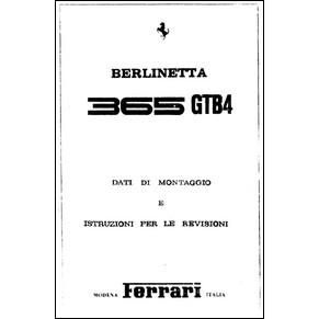 Manuel de réparation 1975 Ferrari 365 GTB/4 Daytona 103/75