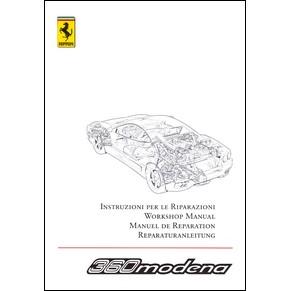 Manuel de réparation 2005 Ferrari 360 Modena vol2 1999/05